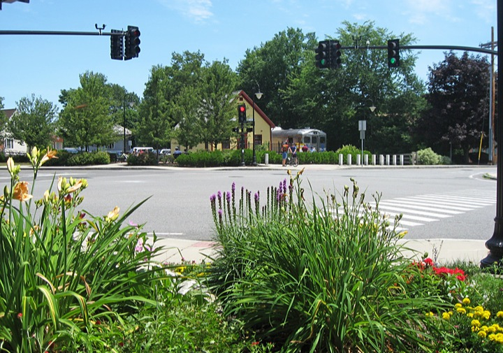 Intersection at Depot Park