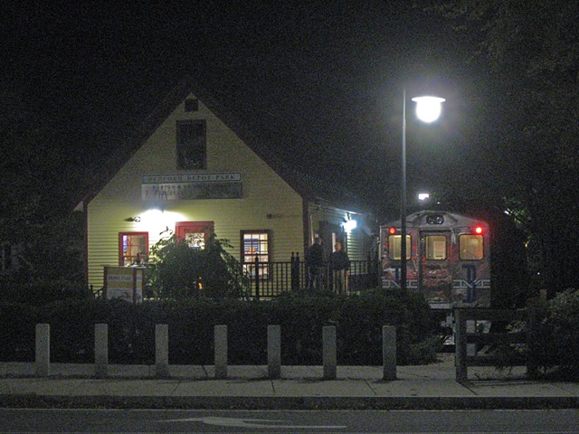 Bedford Freight House and RDC 6211 at night